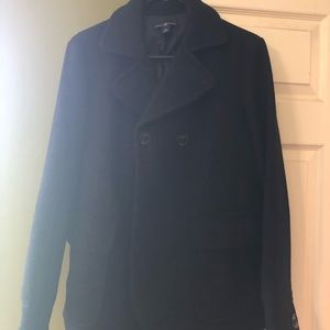 GAP medium black pea coat
